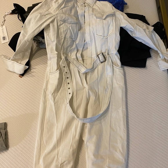Nasty Gal Pants - NASTYGAL white jumpsuit